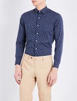 United Arrows Floral-print cotton shirt
