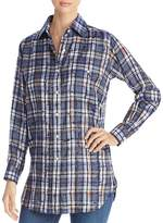 Burberry Chava Scribble Check Silk Blouse