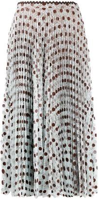 Marco De Vincenzo Polka Dot Pleated Skirt