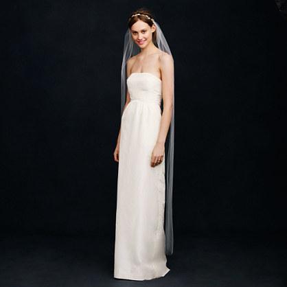 Jennifer Behr wreath veil