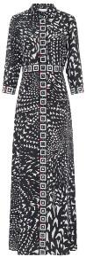 Hayley Menzies Wings Silk Maxi Dress - small | silk | black | monochrome - Black/Black