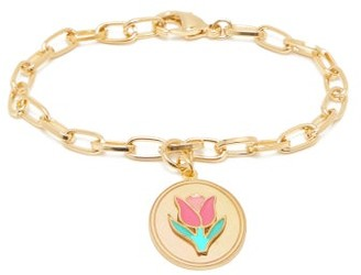 Wilhelmina Garcia - Tulip 18kt Gold-vermeil Charm Bracelet - Gold Multi