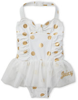 Juicy Couture Toddler Girls) Metallic Dot One-Piece Swimsuit
