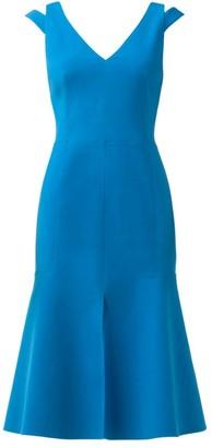 Akris Cold-Shoulder Crepe Dress
