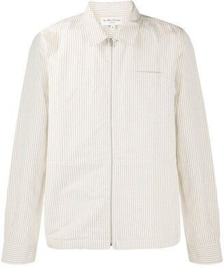 YMC Pinstriped Zip Front Shirt
