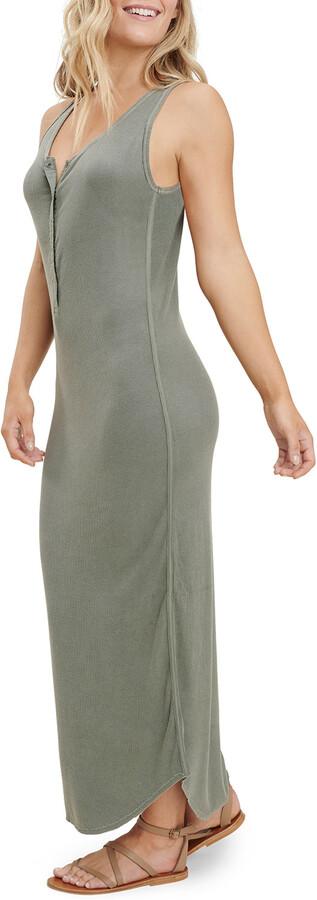 Thumbnail for your product : Splendid Raven Sleeveless Henley Maxi Dress