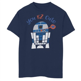 Star Wars Boys 8-20 R2-D2 Too Cute Valentine's Day s Tee