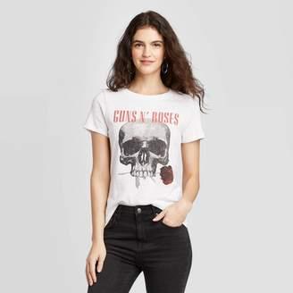Bravado Women' Gun N' Roe hort leeve Graphic T-hirt (Junior') -