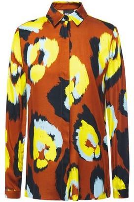 Just Cavalli Printed Satin-twill Shirt