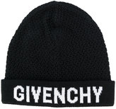 Givenchy logo knit beanie - women - Wool - One Size