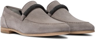 Brunello Cucinelli Embellished suede loafers