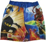 Lego Little Boys Yellow Ninjago Minifigures Printed Swim Wear Shorts 5-6
