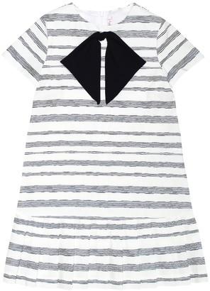 Il Gufo Striped cotton-blend dress
