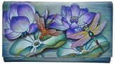 Anuschka Hand Panted Multi-Pocket Wallet/Clutch Tranquil Pond Wallet