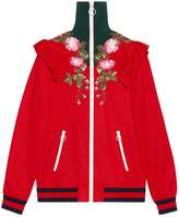 Gucci Embroidered technical jersey jacket