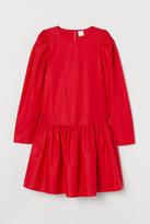 H&M Cotton Poplin Dress - Red