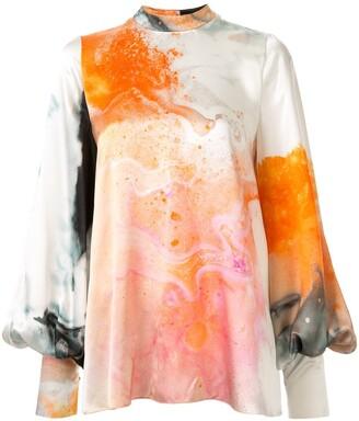 Roksanda Orange Explosion printed blouse