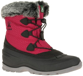 Kamik Momentum Faux Fur Trim Snow Boot
