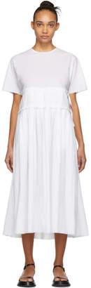 Sara Lanzi White Gathered Dress