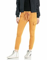 Cover Girl Women's Cargo High Waisted Slim Fit Solid Color Skinny Drawstring
