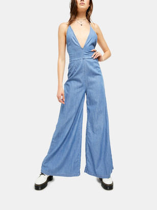 Free People Josie Deep V-Neck Jumpsuit