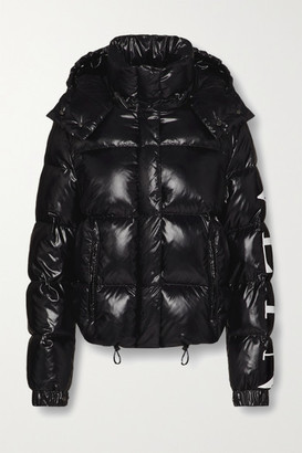 Valentino Hooded Quilted Glossed-shell Down Jacket - Black