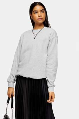 Topshop Womens Grey Everyday Sweatshirt - Grey Marl