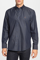 Nordstrom Smartcare(TM) Regular Fit Twill Denim Boat Shirt