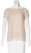Milly Embellished Silk Top w/ Tags