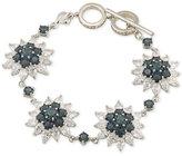 Carolee Silver-Tone Sunburst Crystal Link Bracelet