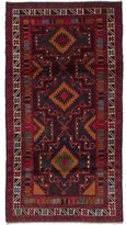 Ecarpetgallery Brown, Red, Black, Copper, and Cream Wool Hand-knotted Rizbaft Rug (3'5 x 6'4)