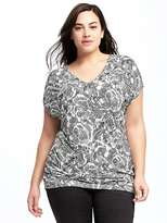Old Navy Inverted Plus-Size Cutout-Back Top