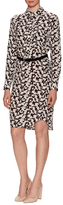 Derek Lam 10 Crosby Silk Print Curved Hem Shirt Dress