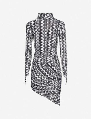 Maisie Willen Orbit City logo-print stretch-jersey mini dress