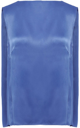 By Malene Birger Draped Satin-crepe Top