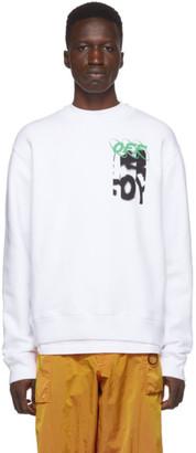 Off-White White Spray Blurred Slim Sweatshirt