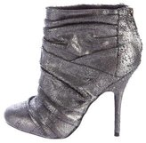 Elizabeth and James Metallic Textured Ankle Boots