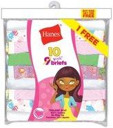 Hanes Girls` ComfortSoft 10-Pack No Ride Up Briefs, PA13BB