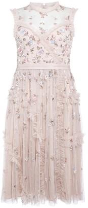 Needle & Thread Shimmer Ditsy Blush Embellished Tulle Dress