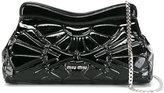 Miu Miu embossed clutch - women - Patent Leather - One Size