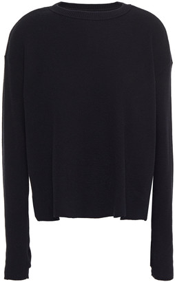 Enza Costa Waffle-knit Cotton And Cashmere-blend Sweater