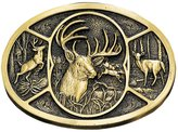 Montana smiths Men's Brass Deer Belt Buckle
