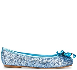 Maison Margiela Tabi glitter ribbon ballerina shoes