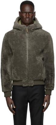 Army by Yves Salomon Yves Salomon - Army Green Shearling Jacket