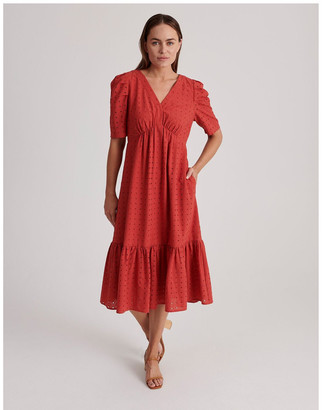 Basque Cotton Broderie Dress