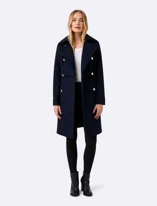 Forever New Helena DB coat - Navy - 4
