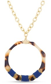 Catherine Malandrino Women's Simulated Tortoise Shell Chain Necklace