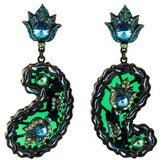 Lanvin Udaipur Crystal Clip-On Earrings