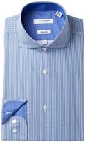 Isaac Mizrahi Printed Check Slim Fit Dress Shirt
