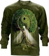 The Mountain Ying Yang Tree USA Long Sleeve T-Shirt